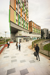 Hale Village is an urban village with sustainability and community at its heart, situated in the centre of Tottenham Hale, London. Its facilities, distinctive architecture, green spaces and environmental standing create a new generation of eco-district. There are over 1200 private and rental homes including a large amount of affordable housing. UK 2017