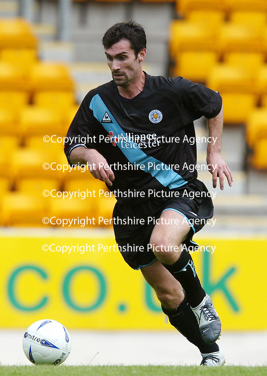 St Johnstone v Leicester City..24.07.04 (Friendly) <br />Keith Gillespie<br /><br />Picture by Graeme Hart.<br />Copyright Perthshire Picture Agency<br />Tel: 01738 623350  Mobile: 07990 594431