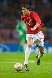 MOSCOW, RUSSIA - Wednesday, May 21, 2008: Manchester United's Cristiano Ronaldo in action against during the UEFA Champions League Final at the Luzhniki Stadium. (Photo by David Rawcliffe/Propaganda)