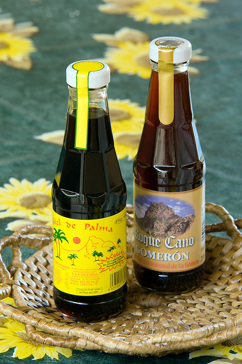 Sap, called guarapa, of the Canary Date Palm is boiled down to syrup to produce palm honey, miel de palma. Canary Islands