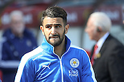 Leicester City midfielder Riyad Mahrez (26)  during the Barclays Premier League match between Sunderland and Leicester City at the Stadium Of Light, Sunderland, England on 10 April 2016. Photo by Simon Davies.