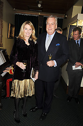 DAVID McDONOUGH and LADY MARY-GAYE CURZON at a reception to support The Hyde Park Appeal held in the officers Mess, Household Cavalry Mounted Regiment, Hyde Park Barracks, London SW1 on 10th November 2008.