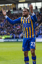 March 23, 2019 - Meadow, Shropshire, United Kingdom - Scott Golbourne of Shrewsbury Town during the Sky Bet League 1 match between Shrewsbury Town and Portsmouth at Greenhous Meadow, Shrewsbury on Saturday 23rd March 2019. (Credit Image: © Mi News/NurPhoto via ZUMA Press)