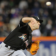 NEW YORK, NEW YORK - APRIL 12: Pitcher David Phelps, Miami Marlins, pitching during the Miami Marlins Vs New York Mets MLB regular season ball game at Citi Field on April 12, 2016 in New York City. (Photo by Tim Clayton/Corbis via Getty Images)
