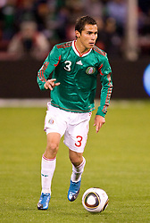 February 24, 2010; San Francisco, CA, USA;  Mexico defender Paul Aguilar (3) during the first half against Bolivia at Candlestick Park. Mexico defeated Bolivia 5-0.