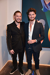 Left to right, Jonny Burt and Joe Kennedy at the launch of Unit London Mayfair and Ryan Hewett The Garden Preview, Hanover Square, London, England. 26 June 2018.