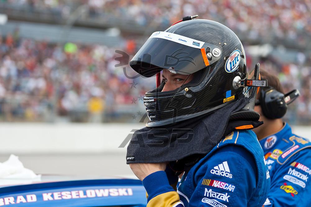 DARLINGTON, SC - MAY 12, 2012:  Brad Keselowski (2) prepares to race for the Bojangles Southern 500 race at the Darlington Raceway in Darlington, SC.