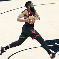 01 May 2017: Houston Rockets guard James Harden (13) is seen during the Houston Rockets 126-99 victory over the San Antonio Spurs, in game 1 of the Western Conference Semi Finals, at the AT&T Center, San Antonio, Texas, USA.