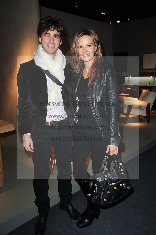 Private View of the Pavilion of Art & Design London 2010 held in Berkeley Square, London on 11th October 2010.<br /> Picture Shows:-JESSICA SIMON and PHILIPPE TEIXEIRA.