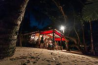 Little Corn Beach & Bungalow's restaurant and Bar, The Turned Turtle, on east coast of Little Corn Island, Nicaragua. Copyright 2017 Reid McNally.