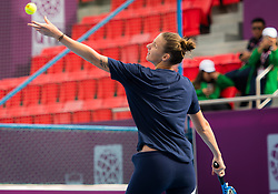 February 11, 2019 - Doha, Spain - Karolina Pliskova of the Czech Republic practices ahead of the 2019 Qatar Total Open WTA Premier tennis tournament (Credit Image: © AFP7 via ZUMA Wire)