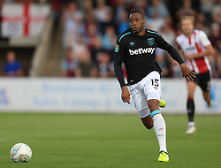 Diafra Sakho of West Ham United - Mandatory by-line: Paul Roberts/JMP - 23/08/2017 - FOOTBALL - LCI Rail Stadium - Cheltenham, England - Cheltenham Town v West Ham United - Carabao Cup
