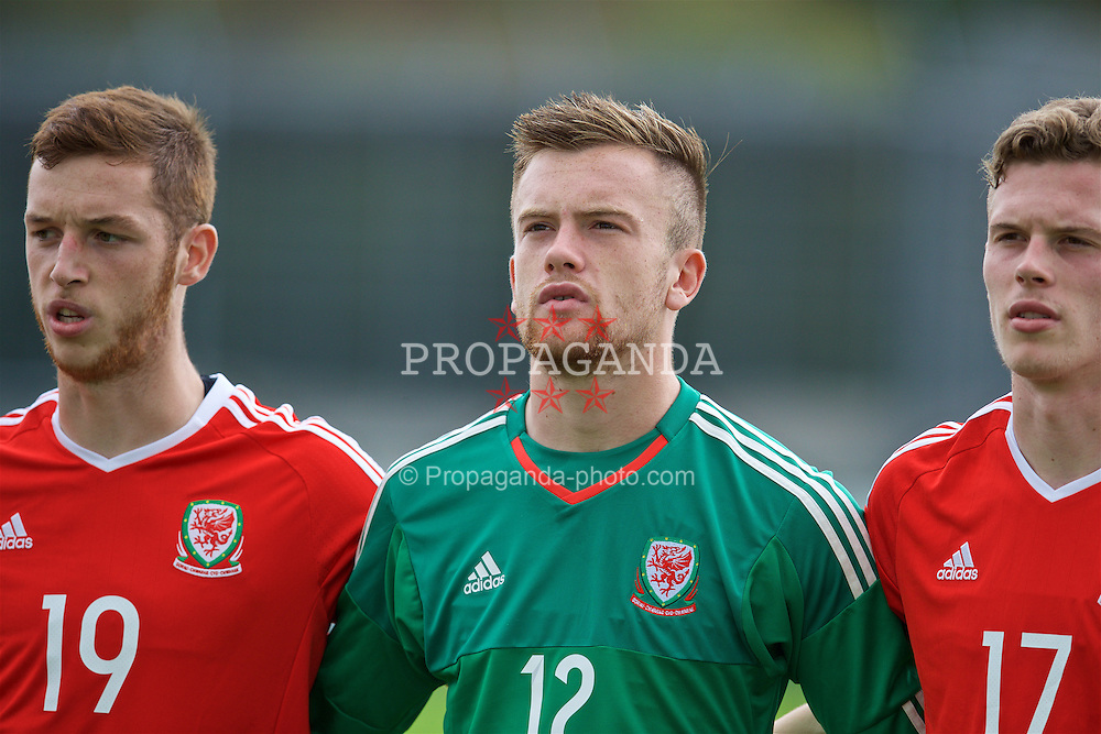 NEWPORT, WALES - Tuesday, September 6, 2016: Wales' goalkeeper Scott Coughlan lines-up before the International Friendly match against Iceland at Dragon Park. (Pic by David Rawcliffe/Propaganda)