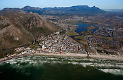 Muizenberg beach with Table Mountain in background. Aerial Images of Cape Town by Greg Beadle