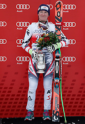 02.03.2014, Mont Lachaux, Crans Montana, SUI, FIS Weltcup Ski Alpin, Crans Montana, Abfahrt, Damen, im Bild Die Siegerin Andrea Fischbacher (AUT) // during Womens Downhill of FIS Ski Alpine World Cup at the Mont Lachaux in Crans Montana, Switzerland on 2014/03/02. EXPA Pictures © 2014, PhotoCredit: EXPA/ Freshfocus/ Christian Pfander<br /> <br /> *****ATTENTION - for AUT, SLO, CRO, SRB, BIH, MAZ only*****