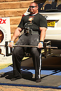 Brian Shaw (USA) gives it his all in the deadlift (for reps) during the final rounds of the World's Strongest Man competition held in Sun City, South Africa.