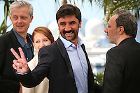Actor Korkmaz Arslan with with producer Marc Bordure, actress Veronique Wuthrich and director Hiner Saleem at the My Sweet Pepper Land film photocall Cannes Film Festival on Wednesday 22nd May 2013
