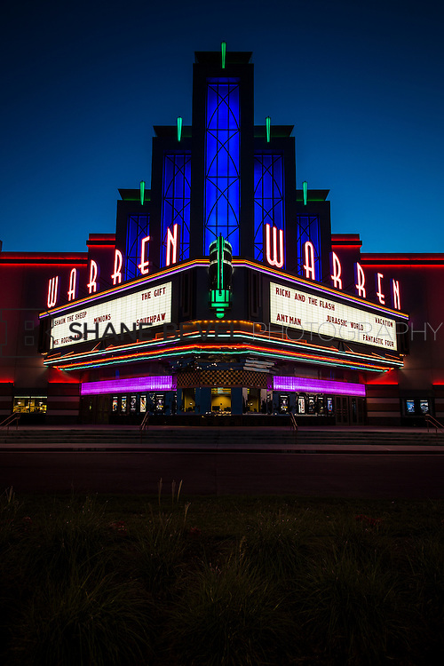 8/10/15 8:37:29 PM --  Exterior photos of the Warren Theatre in Broken Arrow, Oklahoma. <br /> <br /> Photo by Shane Bevel