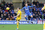 Dannie Bulman of AFC Wimbledon challenges  during the Sky Bet League 2 match between AFC Wimbledon and Bristol Rovers at the Cherry Red Records Stadium, Kingston, England on 26 December 2015. Photo by Stuart Butcher.