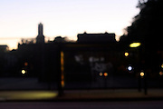 """ A Brooklyn Bus Stop "" (out of focus)"