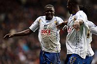 Photo: Mark Stephenson/Sportsbeat Images.<br /> Aston Villa v Portsmouth. The FA Barclays Premiership. 08/12/2007.Portsmouth Sulley Ali Muntari (L) celebrates his 2ed goal