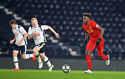 DERBY, ENGLAND - Monday, November 28, 2016: Liverpool's Madger Gomes in action against Derby County during the FA Premier League 2 Under-23 match at Pride Park. (Pic by David Rawcliffe/Propaganda)