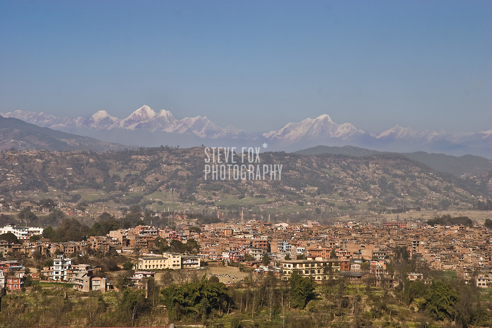 Mountain View from Bhaktapur Guest House, Nepal