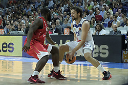 March 10, 2017 - Madrid, Madrid, Spain - Sergio Llull of Real Madrid in action during the 2016/2017 Turkish Airlines EuroLeague Regular Season Round 25 game between Real Madrid v Crvena Zvezda mts Belgrade at Wizink Center on March 10, 2017 in Madrid, Spain. Photo: Oscar Gonzalez/NurPhoto  (Credit Image: © Oscar Gonzalez/NurPhoto via ZUMA Press)