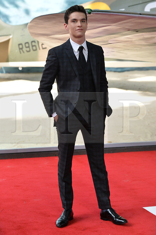 © Licensed to London News Pictures. 13/07/2017. London, UK. FIONN WHITEHEAD attends the Dunkirk World Film Premiere. Photo credit: Ray Tang/LNP