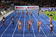 Illustration women relay 4x100m during the European Championships 2018, at Olympic Stadium in Berlin, Germany, Day 6, on August 12, 2018 - Photo Philippe Millereau / KMSP / ProSportsImages / DPPI