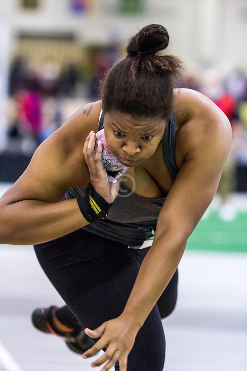 USATF Indoor Track & Field Championships: womens shot put, Brittany Cox