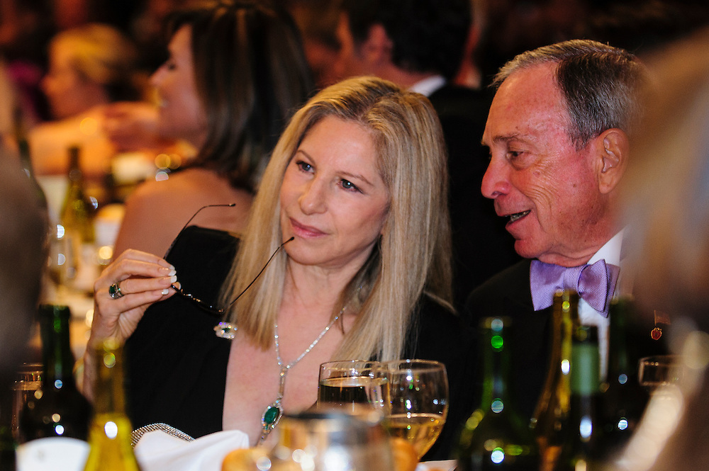New York Mayor Michael Bloomberg talks with actress Barbra Streisand during the White House Correspondents' Association (WHCA) in Washington, District of Columbia, U.S., on Thursday, April 27, 2013. Photographer: Pete Marovich/Bloomberg