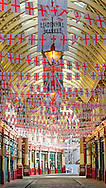 London, England - May 05, 2014: Leadenhall Market, It is one of the oldest markets in London, First opened in1445.