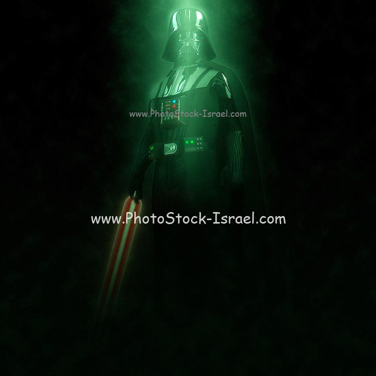 Digitally Enhancement Darth Vader Star wars action figure