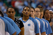 North Carolina sophomore guard Italee Lucas during 2009 ACC Women's Basketball Tournament held at the Greensboro Coliseum in Greensboro, North Carolina.  (Photo by Mark W. Sutton)