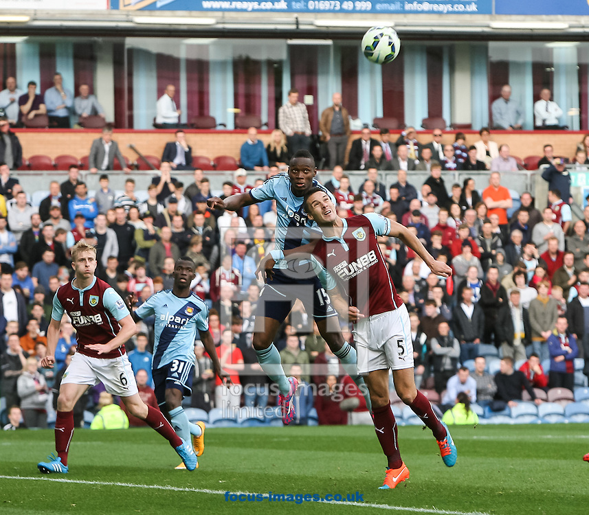 Diafra Sakho of West Ham United scores his side&rsquo;s first goal to make the score 0-1 during the Barclays Premier League match at Turf Moor, Burnley<br /> Picture by Daniel Chesterton/Focus Images Ltd +44 7966 018899<br /> 18/10/2014