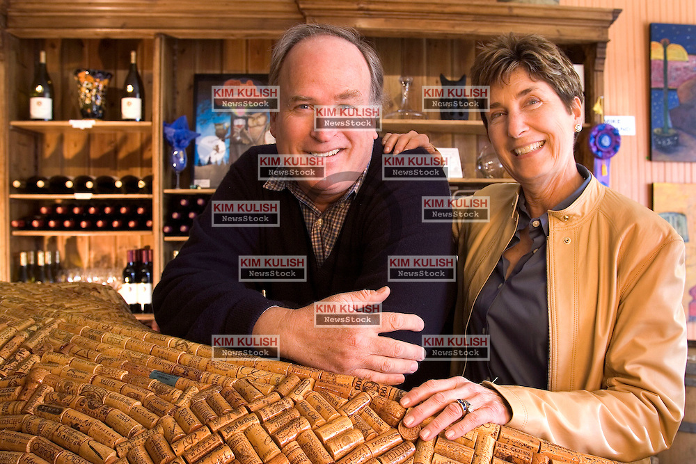The Supreme Court struck down state laws banning outside wineries from shipping directly to customers. Bill and Gerry Brinton,  co-owners of the Charles Creek Winery in Sonoma, Calif. ship wine to customers and operate a small tasting room and art gallery on the downtown plaza. -Photo by Kim Kulish