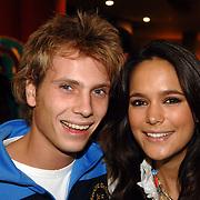 NLD/Amsterdam/20060327 - Premiere Ice Age 2, jamie Westland en partner Elize, Elise van der Horst