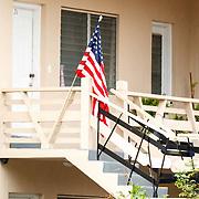 Vakantie 2015, Miami, huis met Amerikaanse vlag