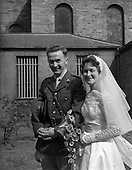 1959 - Wedding of Lt. R.A. (Tony) Wall and  Miss Elizabeth Barclay