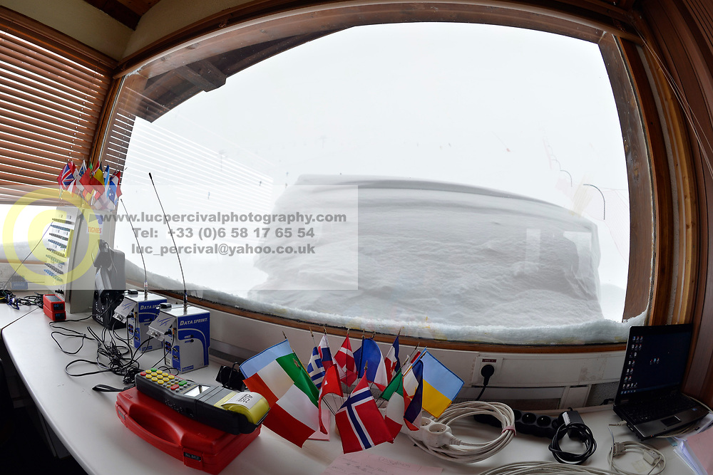 Behind the scenes, setting up in the timing hut, at 2018 World Para Alpine Skiing World Cup, Tignes, France