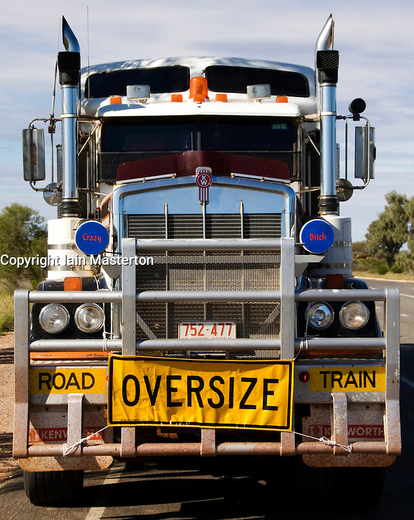 Detail of large road train truck in outback Australia