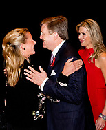 AMSTERDAM - King Willem-Alexander and Queen Maxima greet Princess Mabel during the Red Ribbon Concert. The concert demands attention for the international AIDS response. copyriright robin utrecht<br /> <br /> AMSTERDAM - Koning Willem-Alexander en koningin Maxima begroeten Prinses Mabel tijdens het Red Ribbon Concert. Het concert vraagt aandacht voor de internationale aidsbestrijding.  copyriright robin utrecht