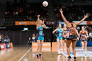 SYDNEY, NSW - JUNE 22: Tegan Philip of the Vixens passes the ball during the round 9 Super Netball match between the Giants and the Vixens at Quaycentre on June 22, 2019 in Sydney, Australia. (Photo by Speed Media/Icon Sportswire)