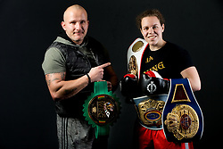 Coach Rudolf Pavlin and Ema Kozin alias The Princess, Slovenian middleweight boxer, at photo session in a gym, on January 5, 2018 in FIT 13, Ljubljana, Slovenia. Photo by Vid Ponikvar / Sportida