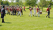 The Battle of Crysler's Farm  Officers salute their opposition during British march past.  The Battle of Crysler's Farm.