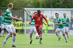 RHOSYMEDRE, WALES - Sunday, May 5, 2019: Connah's Quay Nomads's Michael Bakare during the FAW JD Welsh Cup Final between Connah's Quay Nomads FC and The New Saints FC at The Rock. (Pic by David Rawcliffe/Propaganda)