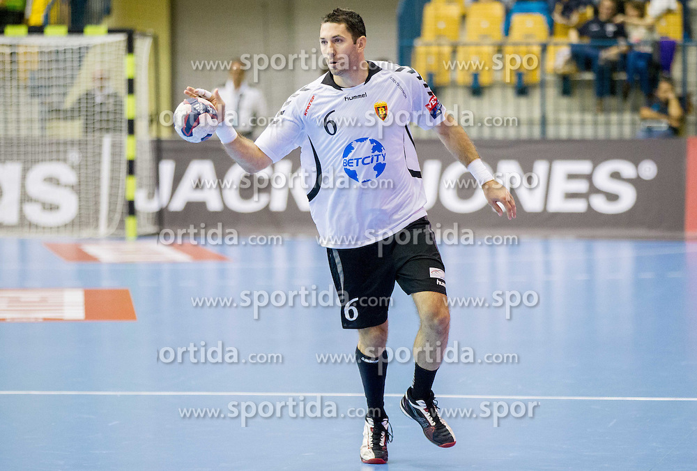 Blazenko Lackovic of Vardar during handball match between RK Celje Pivovarna Lasko and HC Vardar Skopje (MKD) in 1st Round of Group C of EHF Champions League 2014/15, on September 27, 2014 in Arena Zlatorog, Celje, Slovenia. Photo by Vid Ponikvar / Sportida.com