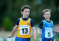 21 Aug 2016: Marc O'Brien, left, Clare, and Cormac Crotty, Cavan, winning 1st and 2nd place respectively in the Boys U10 100m Final. 2016 Community Games National Festival 2016.  Athlone Institute of Technology, Athlone, Co. Westmeath. Picture: Caroline Quinn