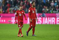 FUSSBALL  1. BUNDESLIGA  SAISON 2015/2016  24. SPIELTAG FC Bayern Muenchen - 1. FSV Mainz 05       02.03.2016 Franck Ribery und Mehdi Benatia (v.l., beide FC Bayern Muenchen) sind nach dem Abpfiff enttaeuscht